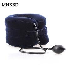 Шейная терапия тяги шейный позвонок поддерживает воротник ортопедический уход за здоровьем надувной массажер релаксационный медицинский бандаж