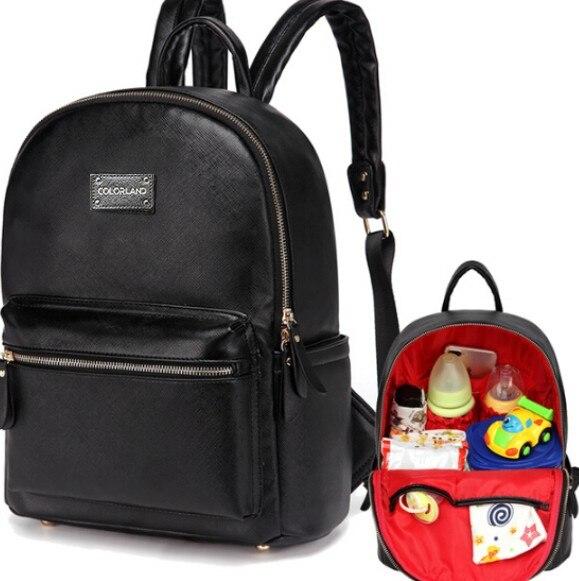 2eb839df1931 Colorland из искусственной кожи Детская сумка-Органайзер Tote Сумки для  подгузников мама рюкзак мать Средства ухода за кожей для будущих мам Сумк..