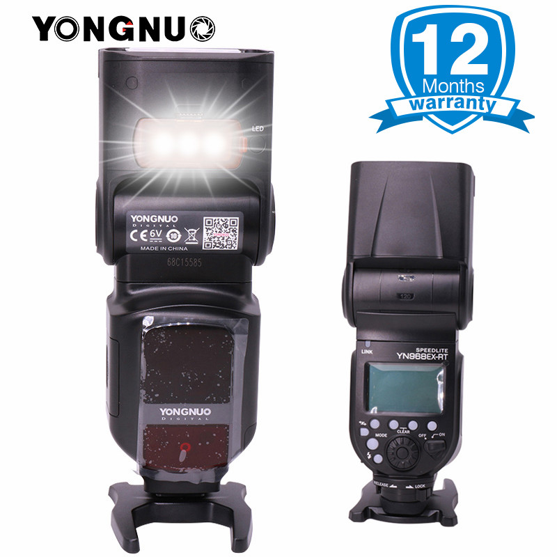 YONGNUO Official YN968EX-RT LED Wireless Flash Speedlite Master TTL HSS w YN-E3-RT Flash Trigger for Canon 600EX-RT\ST-E3-RT