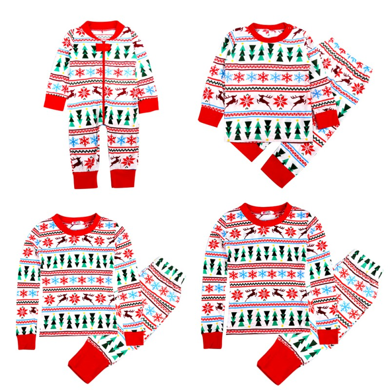 2017 Family Christmas Pajamas New Year Mother Daughter Outfits Family Matching Clothes Sleepwear Pajama Set Family Look