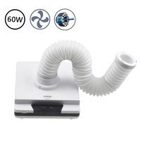 60W Vacuum Cleaner Nail Suction Dust Collector With Strong Fans No spilling Filter Retractable Elbow Manicure Salon Tool