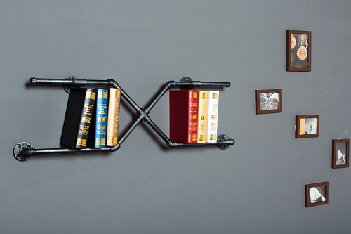 LOFT AMERICAN COUNTRY STYLE FURNITURE, WROUGHT IRON WALL SHELF BOOKCASE SHELF ART EXHIBITION SHELF WATER SEPARATOR-Z27 loft american country to do the old style wrought iron wall shelf bookcase shelf retro industrial rust proof pipes z36
