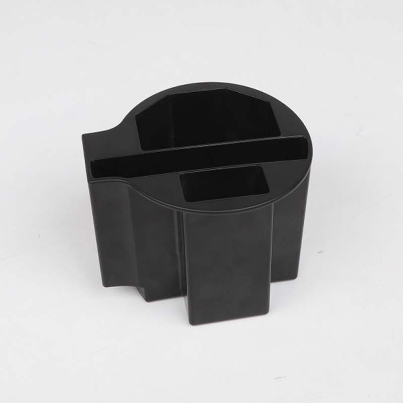 YAQUICKA For Jeep Cherokee 2014 Up Car Accessories Cup Holder Storage Box ABS Interior Black Car Decoration 1Pcs