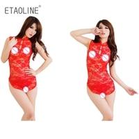 الجديد النمط الصيني المرأة مثير الرباط بيبي دول الملابس الداخلية شيونغسام باس النوم رداء منامة الجنس لعب موحدة r35