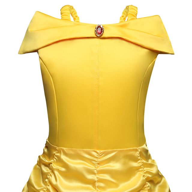 Beauty and The Beast Belle Dresses for Girls Cosplay Costumes Children Clothing Princess Girls Dress Birthday Clothes 5