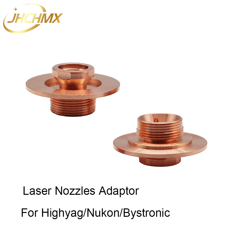JHCHMX High Quality Bystronic/Highyag/Nukon Laser Nozzles Holder Adaptor 10051133 10046030 Fiber Laser Spare Parts Factory Sales