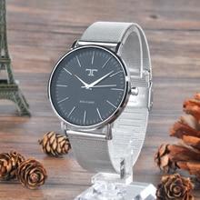 Náramkové hodinky s kovovým náramkem bez číslic