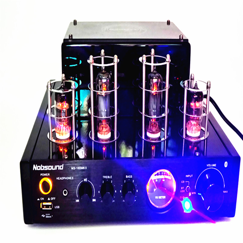 Nobsound MS-10D MKII tube amplifier Bluetooth amplifier Audio headphone amp usb lossless music Play Hifi 2.0 amplifier image