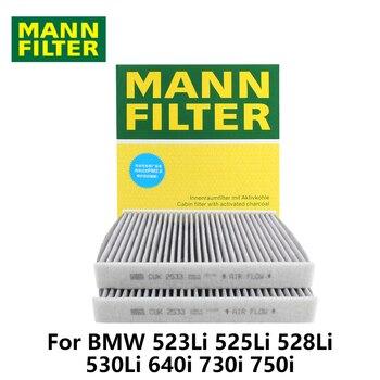 1 pc MANN FILTRO Filtro de Cabine Do Carro Para BMW 523Li 525Li 528Li 530Li 640i 730i 750i CUK2533-2 carvão ativado auto partes
