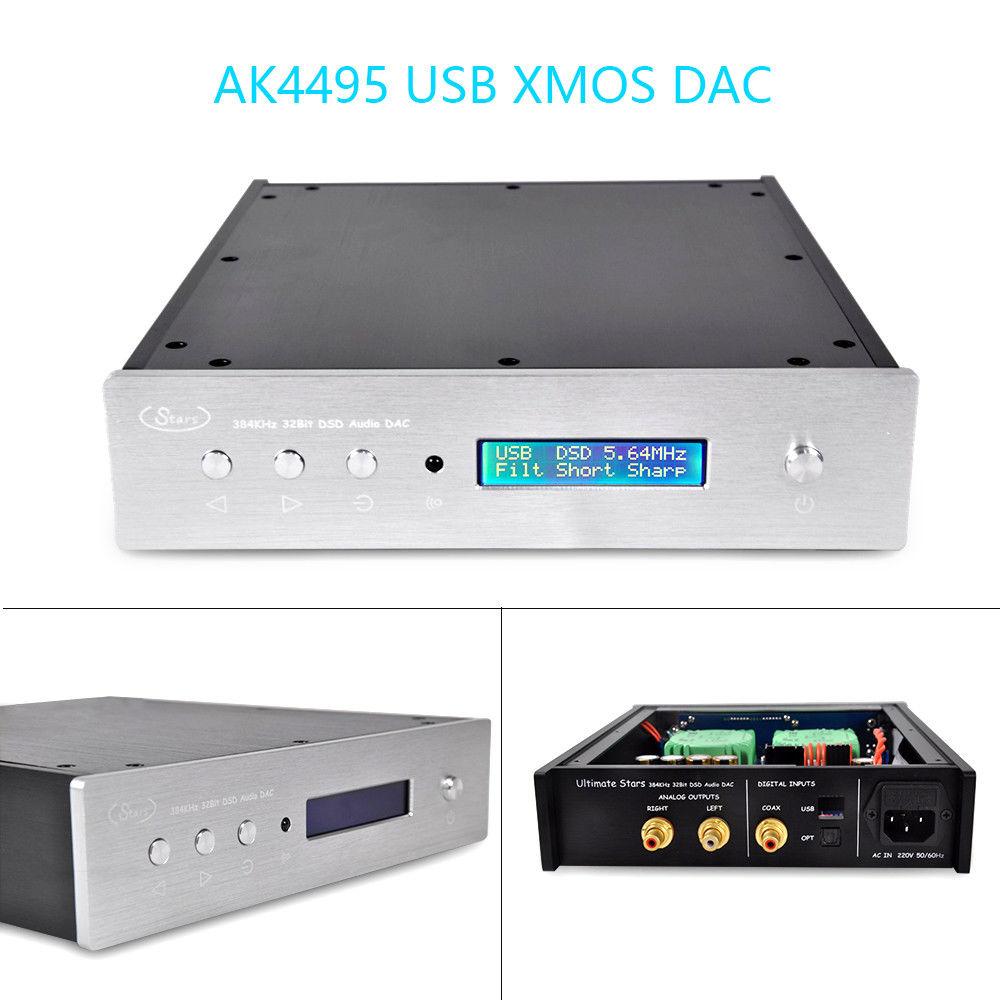 Nobsound DUAL AK4495 USB DAC Audio Decoder DSD XMOS XU208 Digital to Analog Converter xiangsheng dac 05b asynchronous xmos dual 1794 ak4118 ak4495 dsd balanced decoding xu208 decoder 32bit 384k dsd256