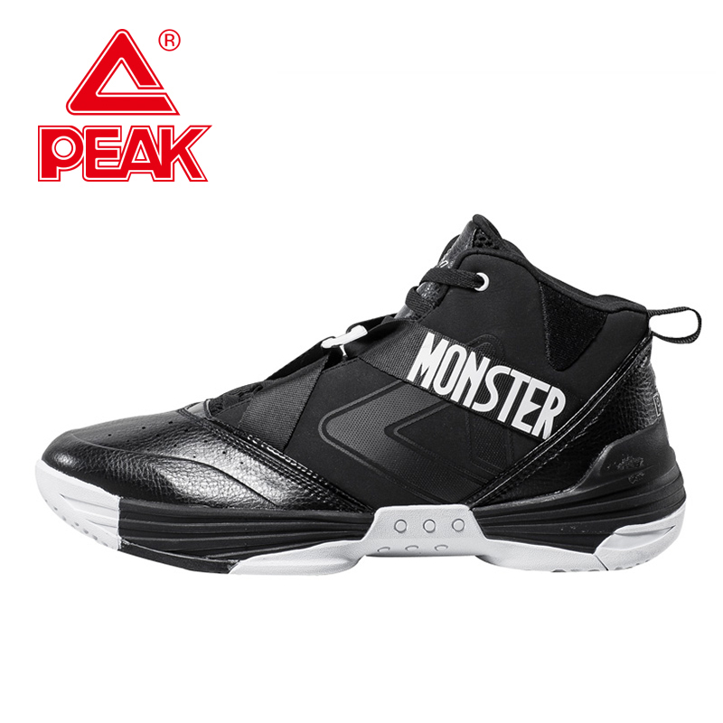 PEAK SPORT New Men Basketball Shoes Professional FOOTHOLD Sport Cushion-3 Tech Athletic Boots Breathable Sneakers Szie EUR 40-47 peak sport monster ii men basketball shoes foothold tech sneakers breathable training athletic durable rubber outsole boots
