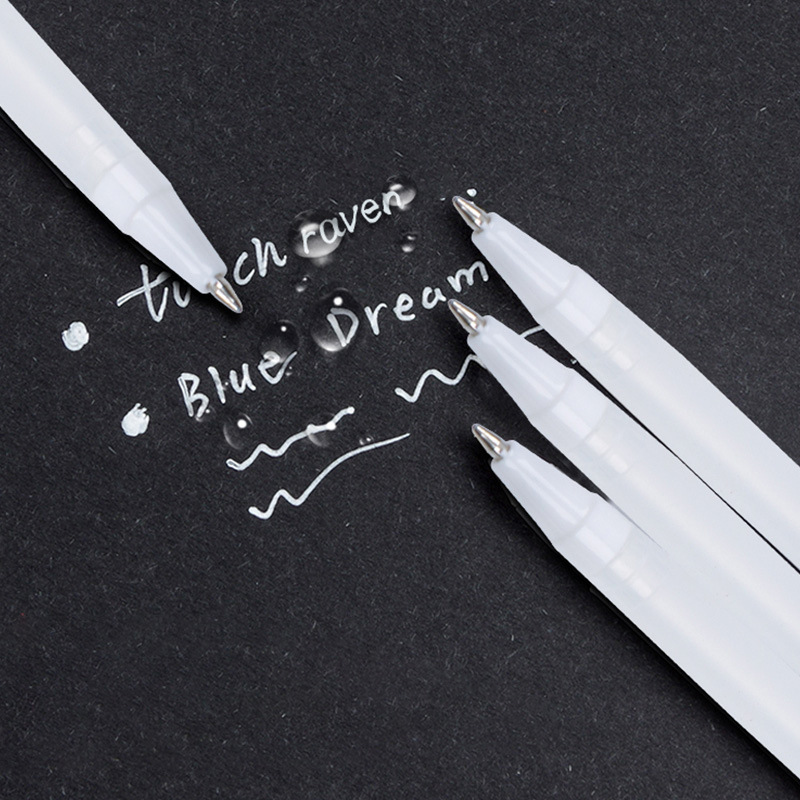 1 шт., белая ручка для рисования, маркер для рисования, черная бумага, стекло, CD шина, граффити, комическое искусство, школа, офис, Канцтовары|Фломастеры|   | АлиЭкспресс