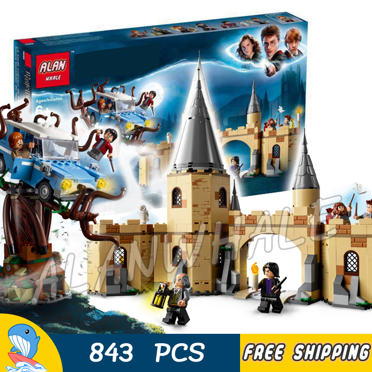 843pcs Magic The Chamber of Secrets Hogwarts Whomping Willow 11005 Model Building Blocks Toys Harri Potter Compatible With Lego