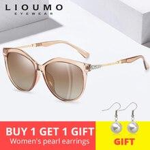 Fashion Brand Design Cat Eye Sunglasses Women Polarized Sun Glasses For Females Rhinestone Temple Goggles UV400 gafas sol mujer