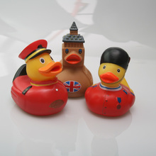 Rubber Duck Bathroom Floating Water Fun Toy Red Soldier / Eiffel Tower Childrens Gift