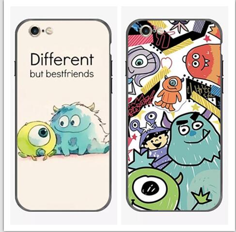 For iphone X Monsters Inc Mike Wazowski Sulley cartoon plastic silicon cover case for Apple iphone 7/8 plus X