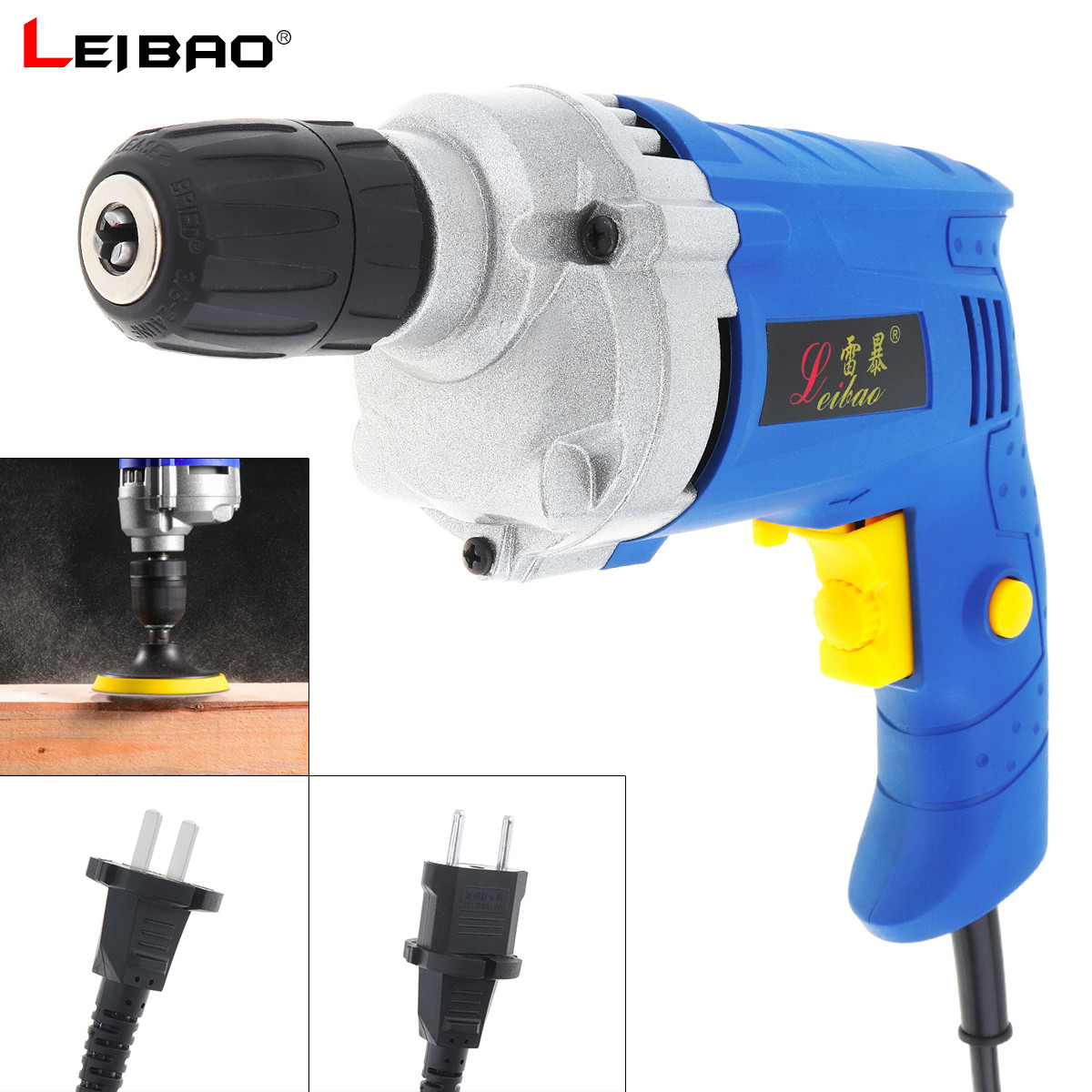 220V 780W High Power Handheld Impact Electric Drill with Rotation Adjustment Switch and 10mm Drill Chuck for Punching Polishing220V 780W High Power Handheld Impact Electric Drill with Rotation Adjustment Switch and 10mm Drill Chuck for Punching Polishing