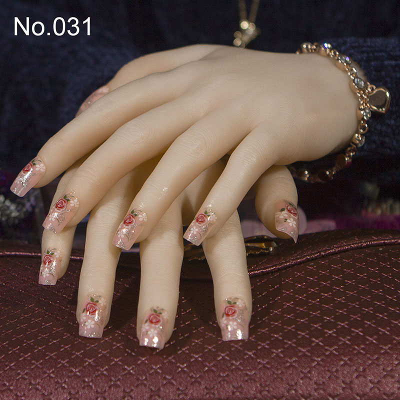 Buy fake nails flower design and get free shipping on AliExpress.com