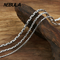 Thai Silver 1.5mm to 3mm Bamboo Chain Necklace New Fashion 100% Authentic 925 Sterling Silver Necklace Women Men jewelry