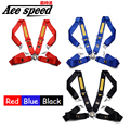 ACE speed-Racing Satefy Seat Belt FIA 2020 Homologation /width:3 inches/4Point Default color is RED
