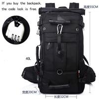 40L Backpack Male Travel Big Backpack Trip Bag Large Capacity Multi function Waterproof Mountaineering Bag Man Duffle KA70