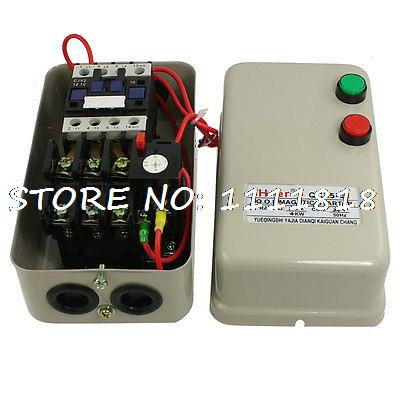 Three Phase Motor Magnetic Starter Contactor Control 24V Coil 4KW 5.5 HP beroun hs650 10kw three phase 380v single phase 220v power remote control thermostat temperature control switch