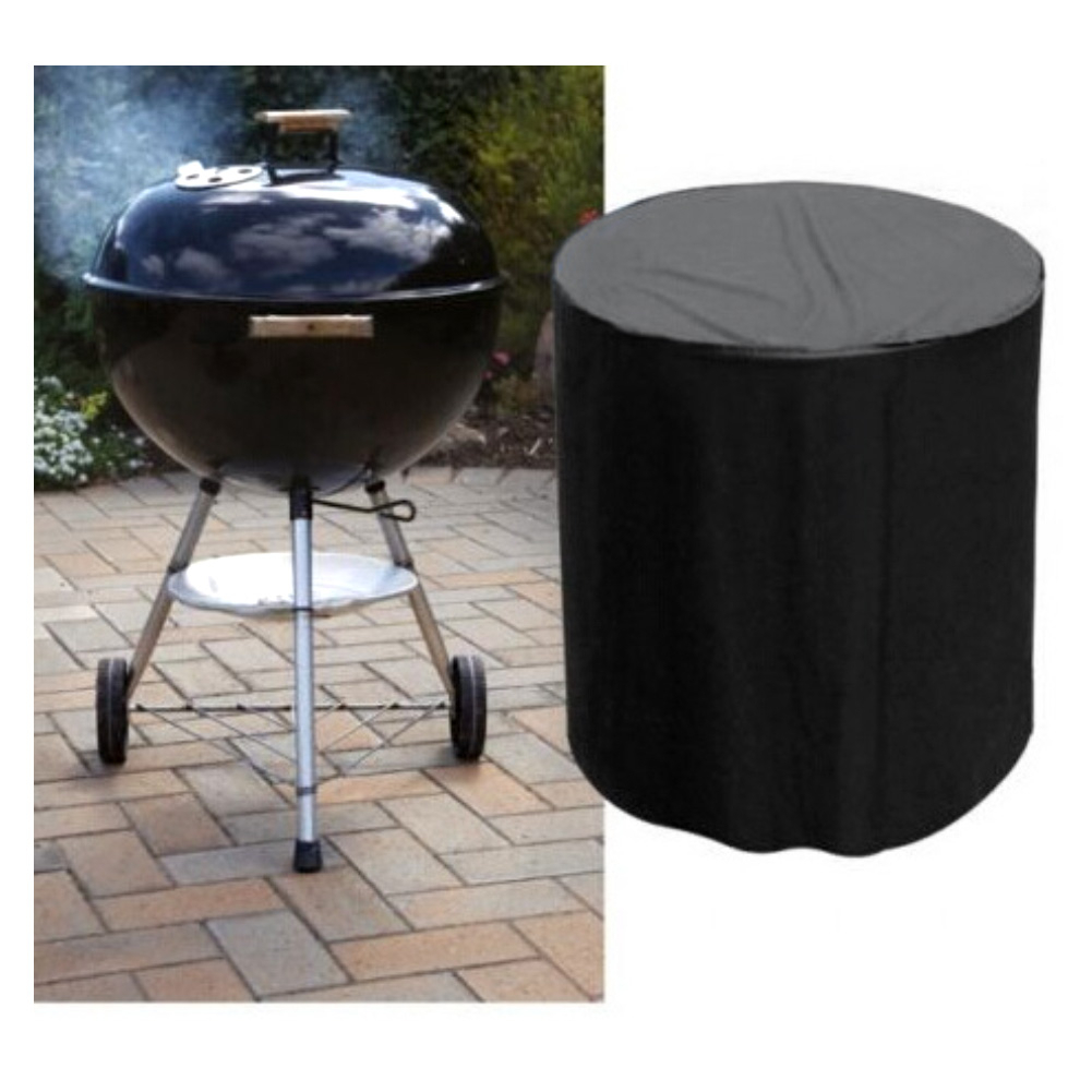 Barbecue Cover Round BBQ Oxford Waterproof Dust-proof Anti-UV Indoor Outdoor Grill Garden Furniture Protection