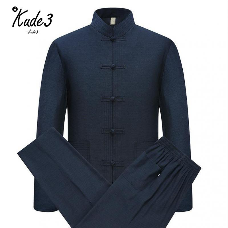 Kung Fu Suit Men Tang Suit Traditional Chinese Clothing For Men Pants Set Mens Top Cheap Oriental Tai Chi Bruce Lee Clothes 5822