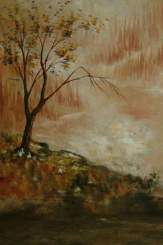10x20ft/3x6 m peint à la main marron automne scénique mousseline photo arrière-plans photographie Studio décors mousseline toile de fond mariage