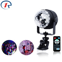 ZjRight IR Remote USB 5V Colorful LED Stage Light Dj Ktv Bar Effect Light Kids Singing