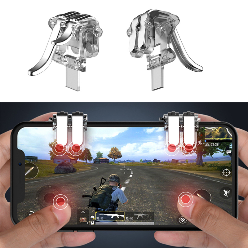 1 Pair six-finger linkage PUBG Mobile Game Fire Button phone