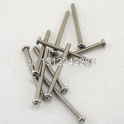 25 Metric M4 50mm Stainless steel Cross Recessed Pan Head Screws 50 pieces metric m4 zinc plated steel countersunk washers 4 x 2 x13 8mm
