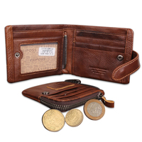 Hot Sale Classical Men's Wallets Genuine Leather Short Fashion Zipper Hasp Brand Coin Pocket Purse ID Credit Card Holder Wallet