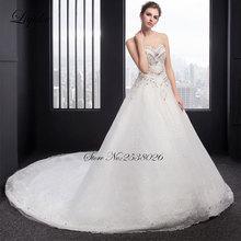 Elegant Tulle Liyuke Sweetheart A-Line Wedding Dress Train