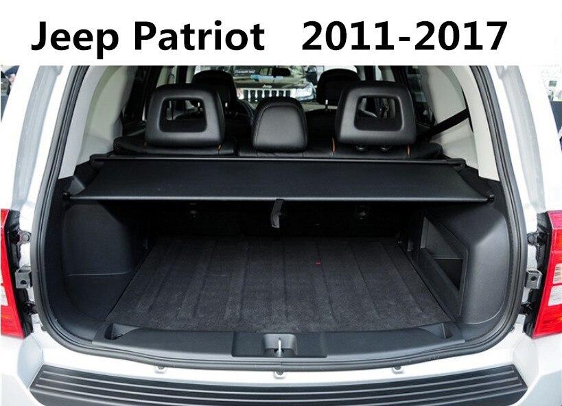 Car Rear Trunk Security Shield Cargo Cover For Jeep Patriot 2011.2012.2013.2014.2015.2016.2017 High Qualit Auto Accessories Mitsubishi Pajero