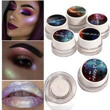 HANDAIYAN Makeup Rainbow Highlighter Shimmer And Shine Illuminator Face Contouring Brightener Glow Kit White Highlighter Cream все цены
