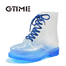2016ผู้หญิงRainbootsใสกันน้ำที่มีสีสันฤดูใบไม้ผลิฤดูใบไม้ร่วงรองเท้าRainbootผู้หญิงรองเท้าข้อเท้า# ZH7