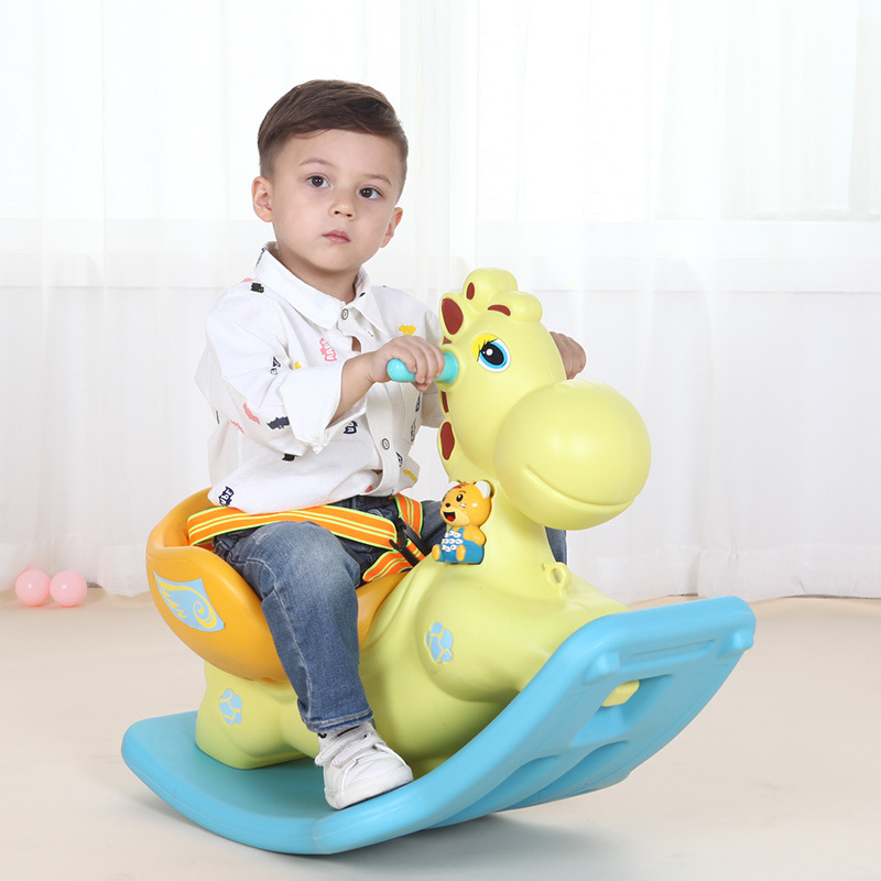 Baby Rocking Horse Plastic Indoor Music Rocking Chair Boys Girls Children's Gift Electric Baby Rocking Animal Seat Bouncer Swing цена 2017