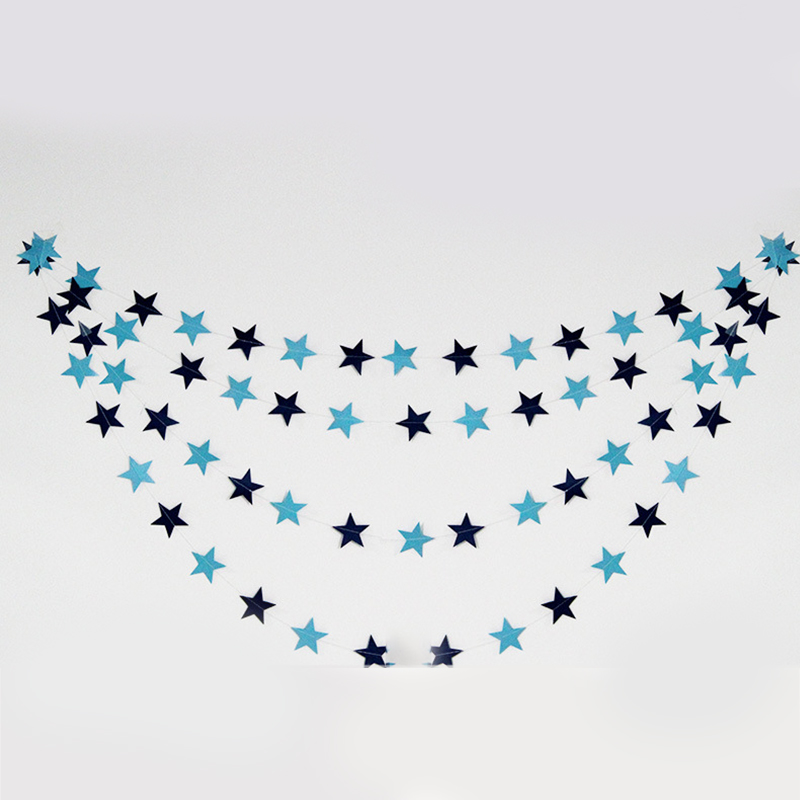 4M Star Paper Garland Bunting Party Wedding Baby Shower Decorations