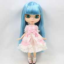 ICY Neo Blythe Doll Blue Hair Jointed Body 30cm
