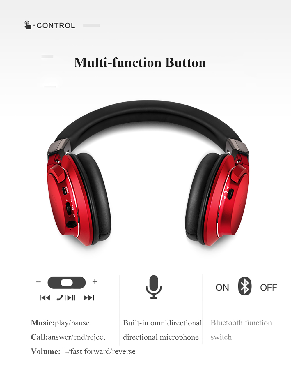 dobrável fone de ouvido com controle remoto mic hi-res alta fidelidade