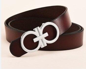 777dc12d3d2 gold buckle Bullet Luxury Designer Belt High Quality brand cowskin genuine Leather  Women waist Strap for Jeans 2.3wide belt