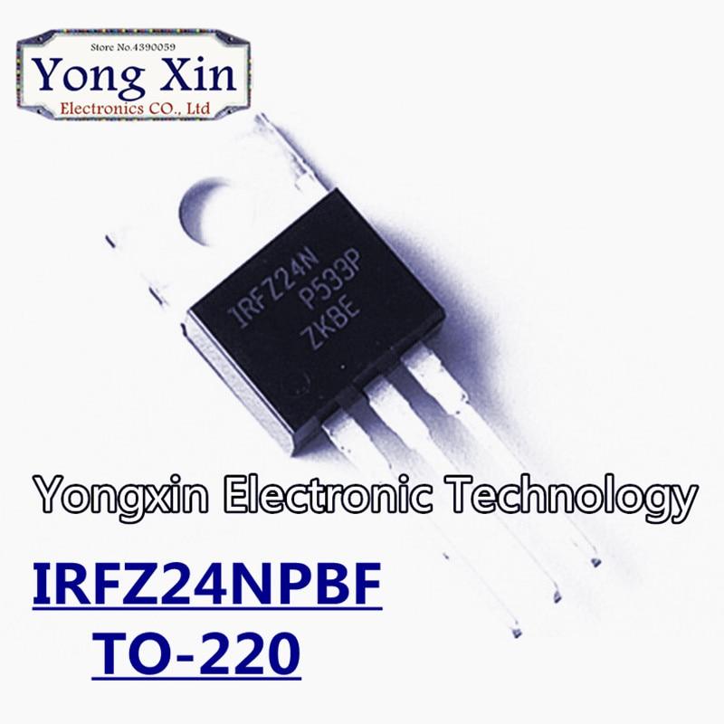 100PCS IRFZ24N TO220 IRFZ24NPBF TO-220 IRFZ24 MOSFET
