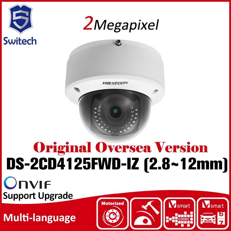 Hikvision  DS-2CD4125FWD-IZ 2MP Smart IP Indoor Dome Camera Slow shutter 140dB WDR Original Oversea Version Security Camera cd диск fleetwood mac rumours 2 cd