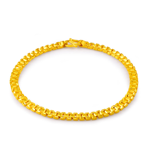 Image 2 - 24K זהב טהור צמיד 999 מוצקים זהב צמיד יוקרתי יפה רומנטי טרנדי תכשיטים קלאסיים חם למכור חדש 2020