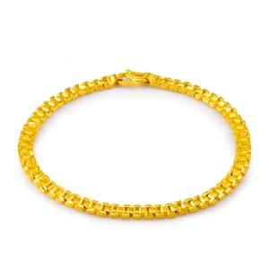 Image 2 - 24K saf altın bilezik gerçek 999 katı altın bileklik lüks güzel romantik moda klasik takı sıcak satış yeni 2020