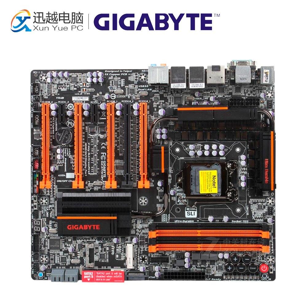 Gigabyte GA-Z77X-UP7 Desktop Motherboard GA-Z77X-UP7 Z77 LGA 1155 i3 i5 i7 DDR3 32G SATA3 E-ATX цена