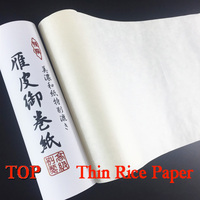 Top Grade Thin Japan Painting Rice Paper Roll Painting Calligraphy Trace Rice Paper Art Painting Supply