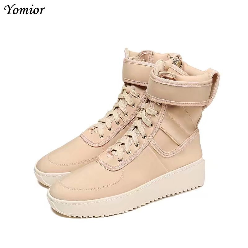 Yomior Handmade 2018 New Casual Fashion Men Shoes High Quality Leather Boots Military Boots Vintage Style Ankle Dress Boots