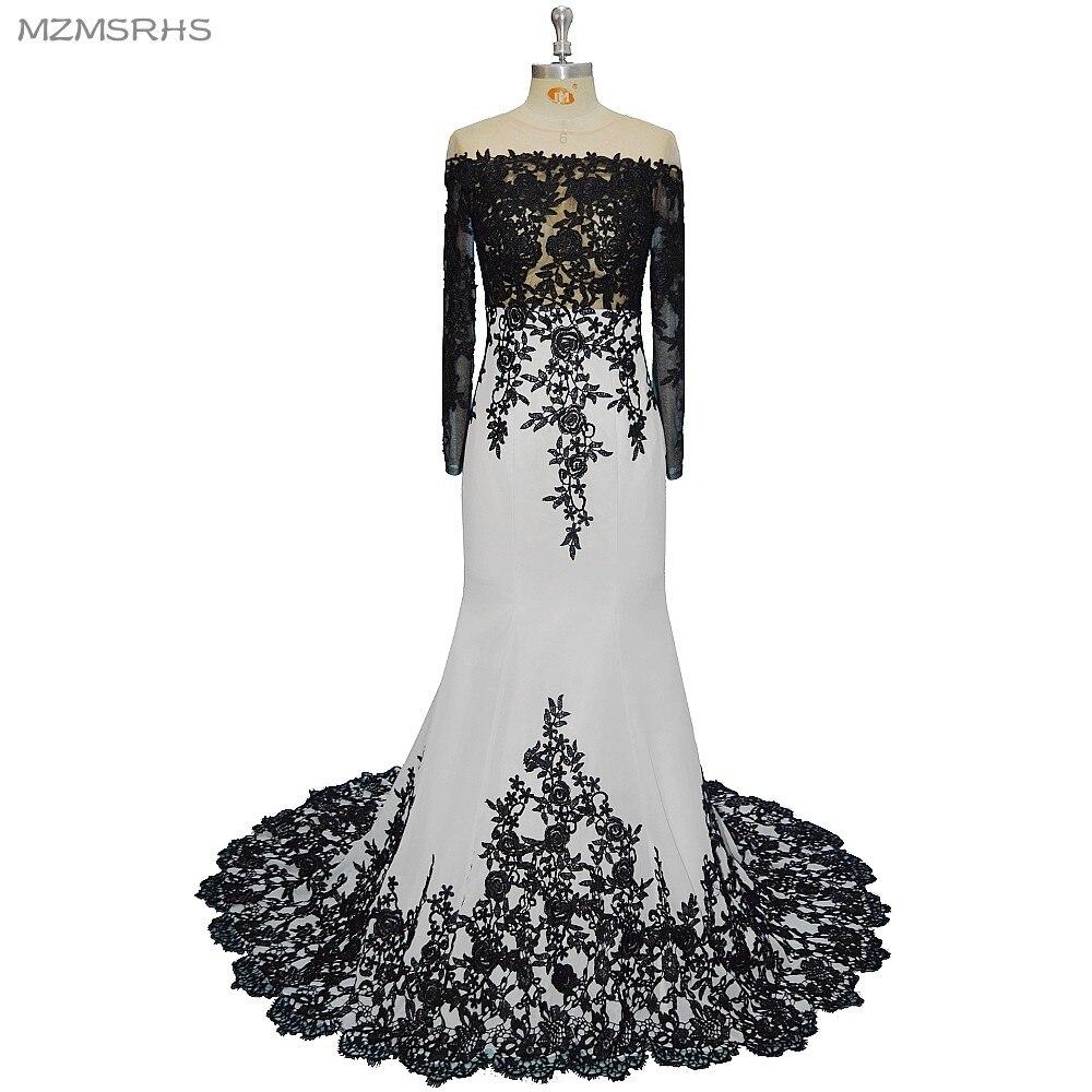 nixe-abschlussball lange pailletten hochzeit kleider schwarz weiß sexy lang  slevees elegante ganzkörperansicht abendkleid 2017